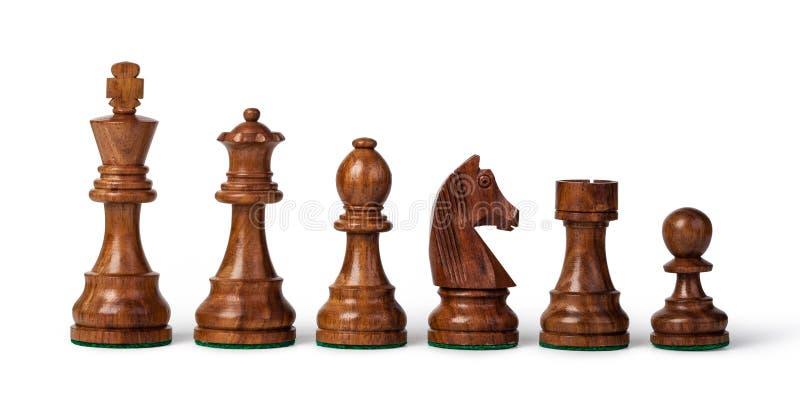 木的棋子 库存照片