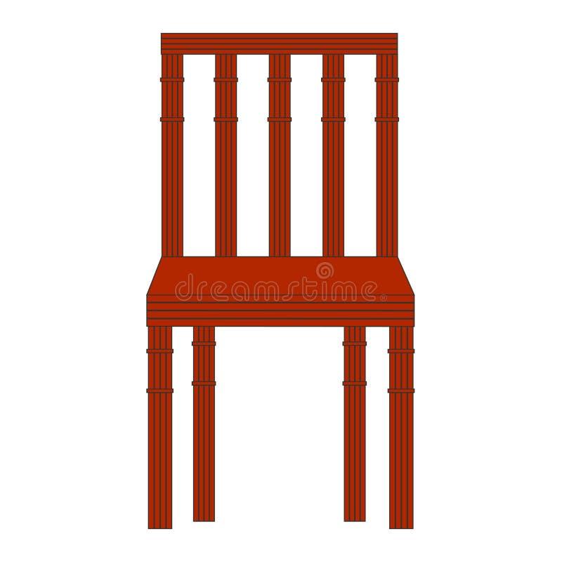 木的椅子 皇族释放例证