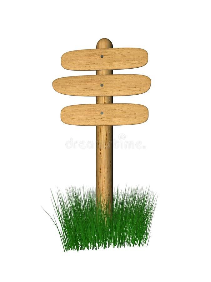 木的牌 向量例证