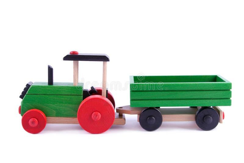 木的牵引车拖车 库存图片