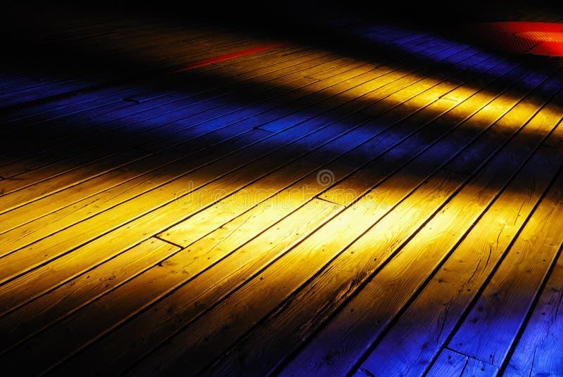 木的甲板 免版税库存照片