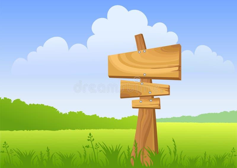 木的符号 皇族释放例证