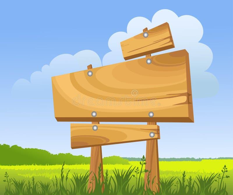 木的符号 库存例证