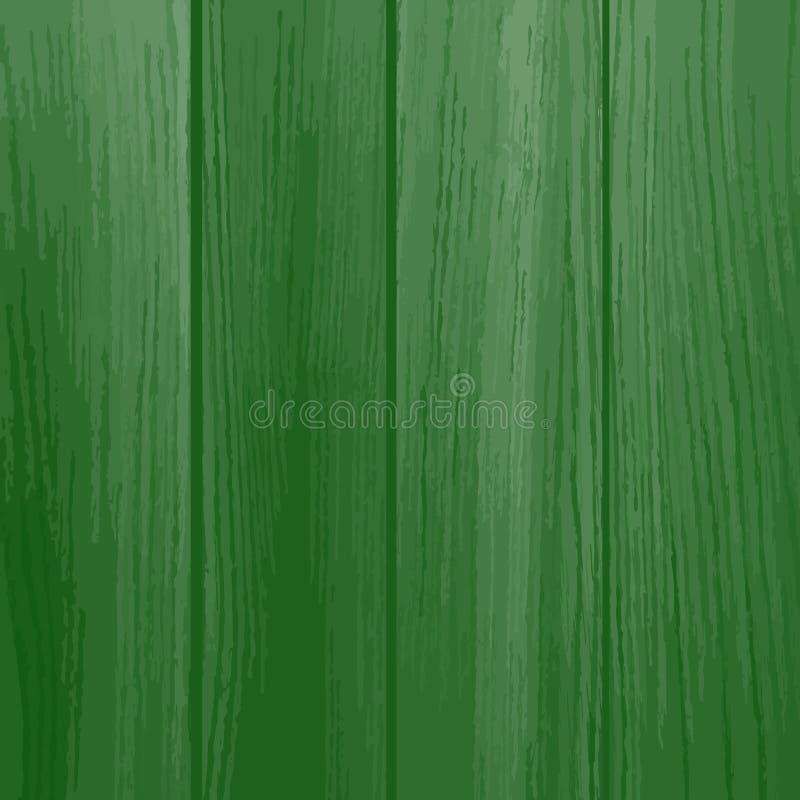 木的背景被绘 绿色 皇族释放例证