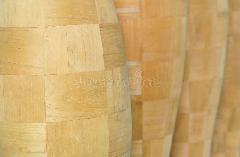木的花瓶 图库摄影