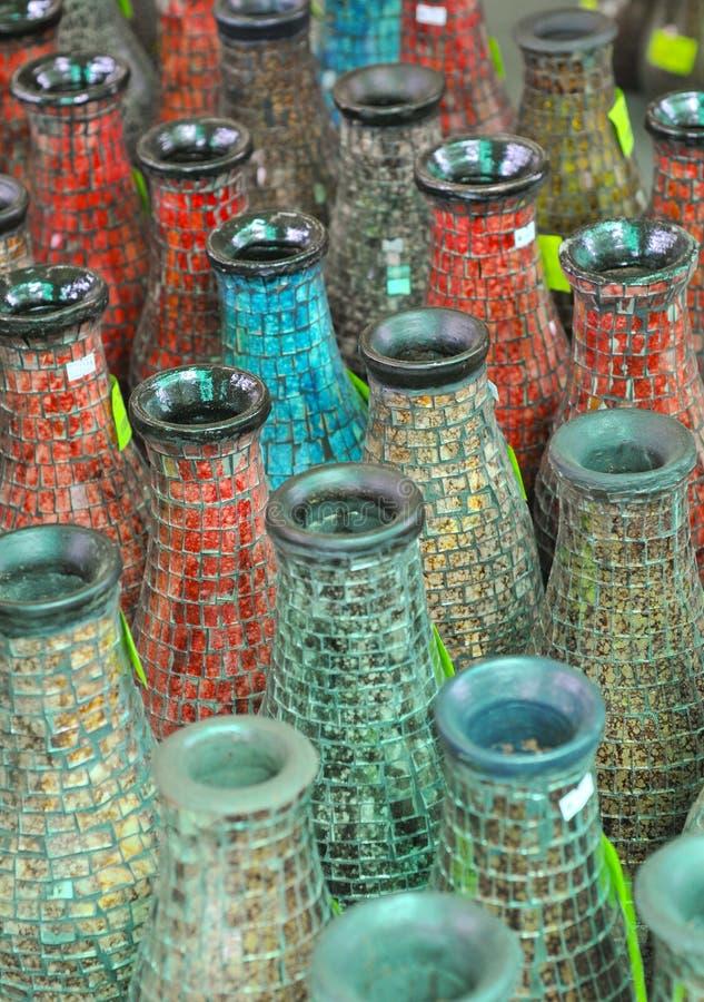 木的花瓶 免版税库存照片