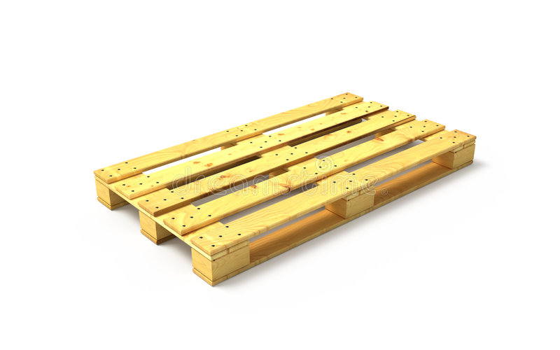 木的货盘 库存例证