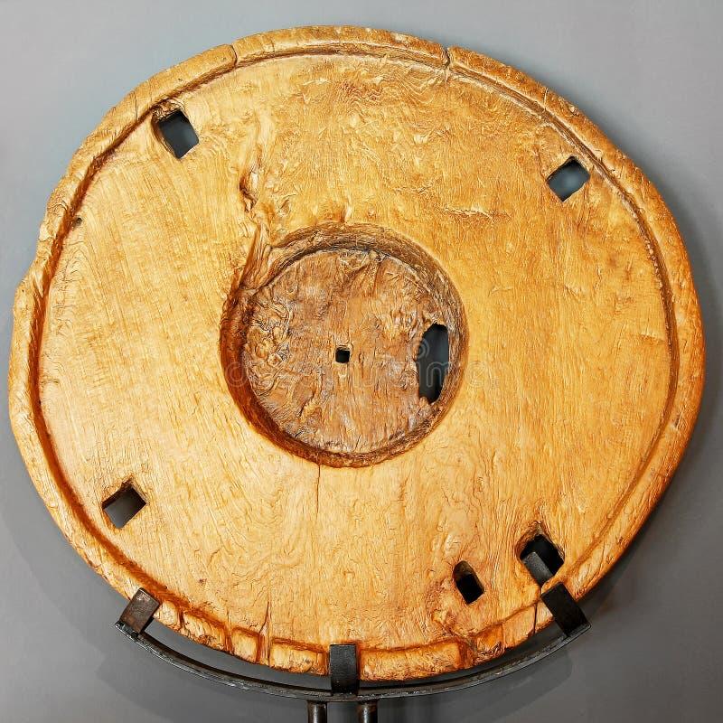 木的轮子 库存照片