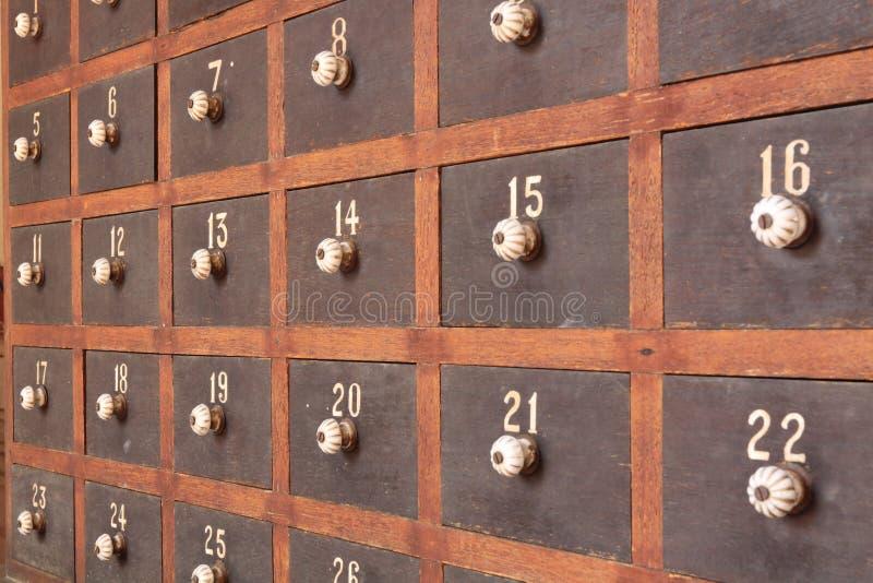 木的邮箱 免版税库存照片