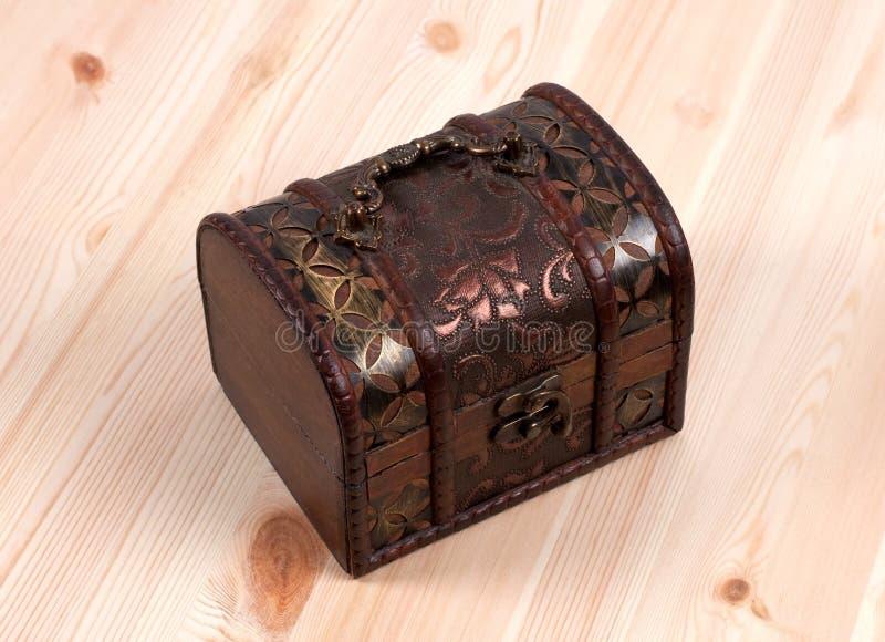 木的配件箱 免版税库存图片