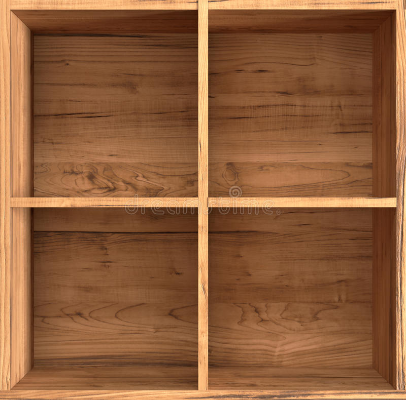 木的配件箱 库存例证