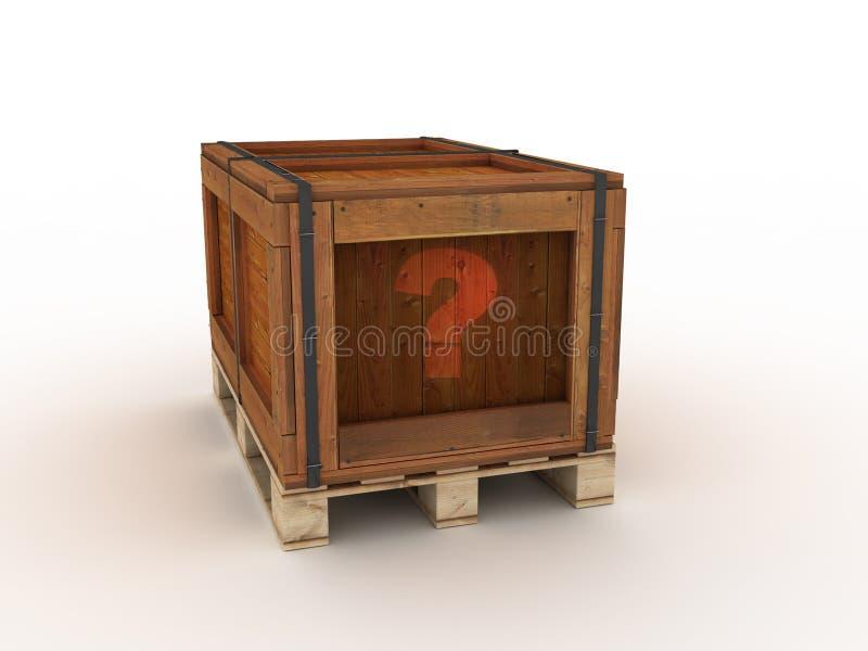 木的配件箱 向量例证