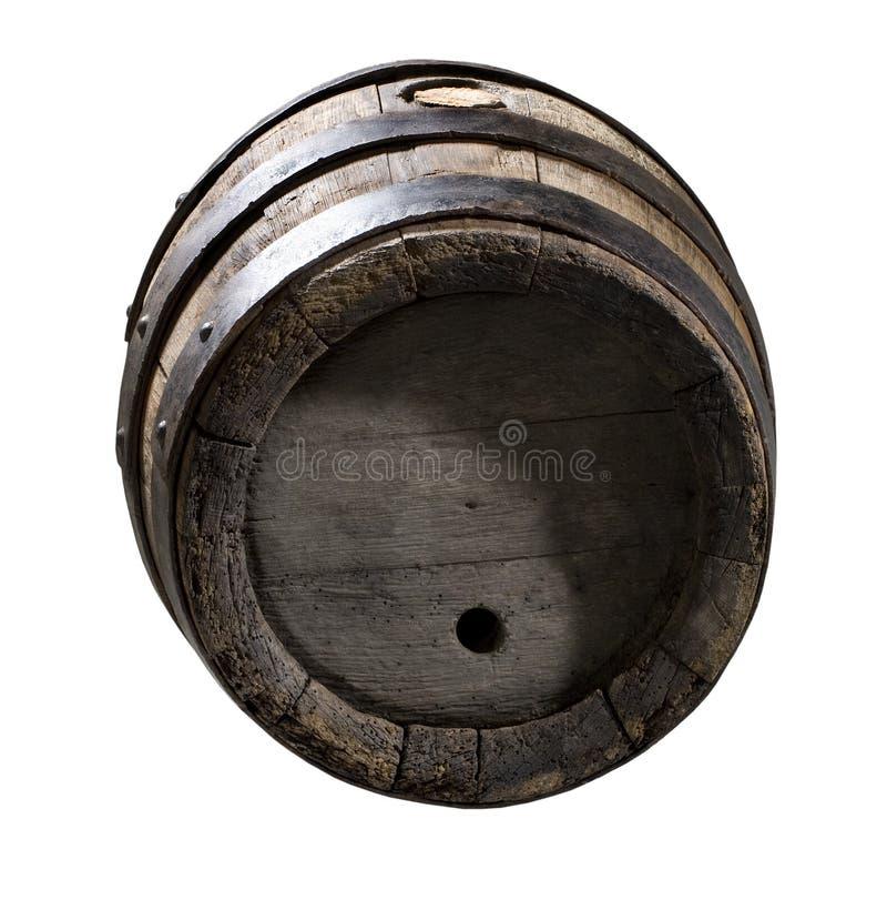 木的酒桶 免版税图库摄影