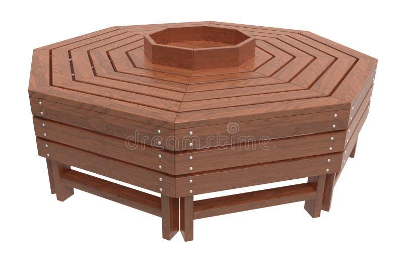 木的长凳 向量例证
