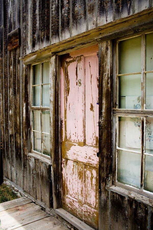 木的门 免版税库存图片