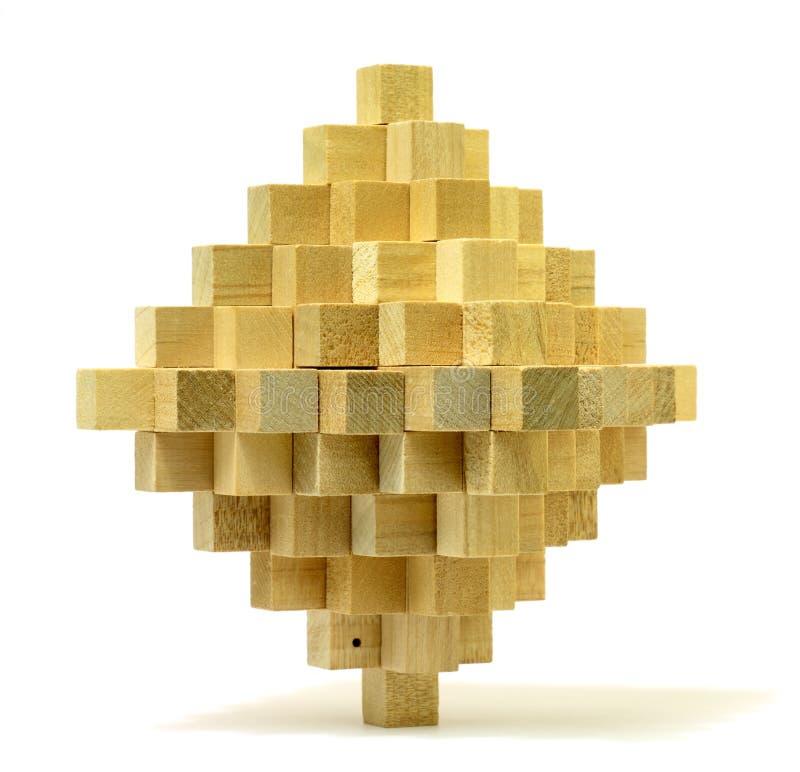木的难题 库存照片
