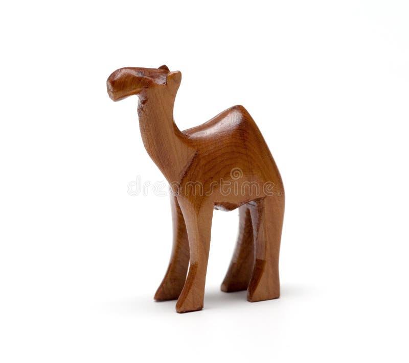 木的骆驼 库存照片