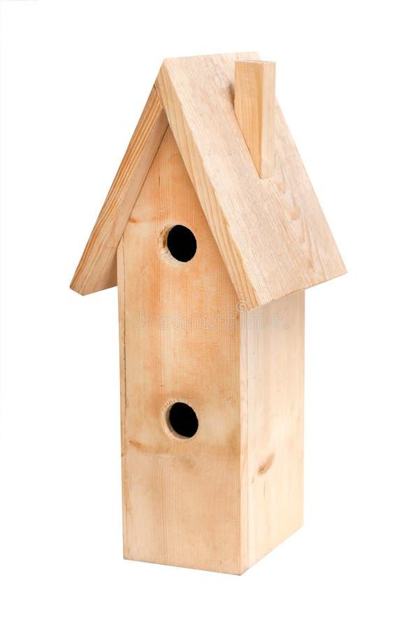 木的鸟舍 免版税库存图片