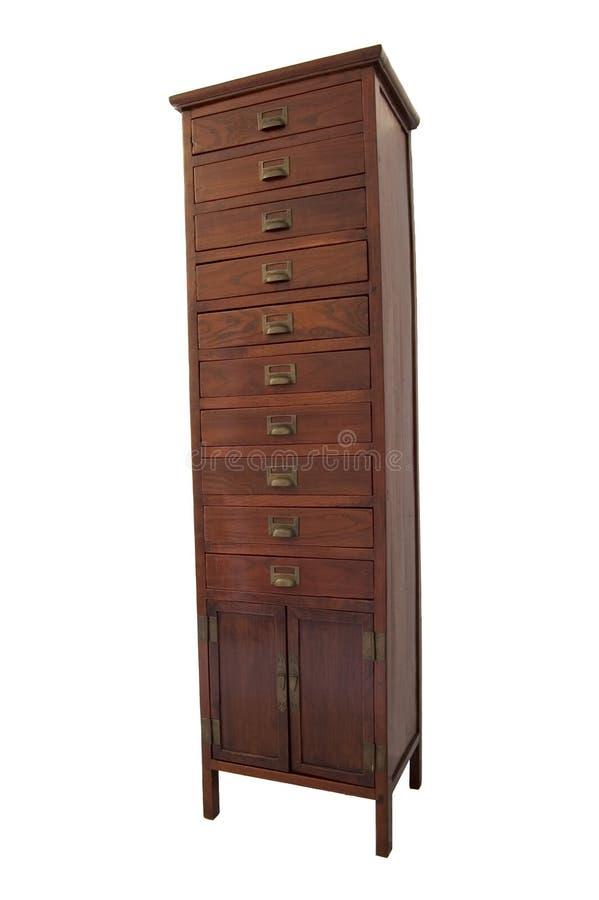 木的cupbord 免版税图库摄影