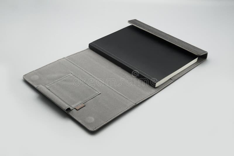 木盖子小册子白色白纸笔记本书模板 免版税库存照片