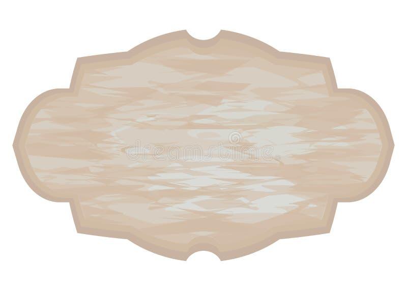 木盘区用与在白色背景隔绝的蓝色被摩擦的油漆对象的一份shebbie别致的浅褐色的咖啡 库存例证