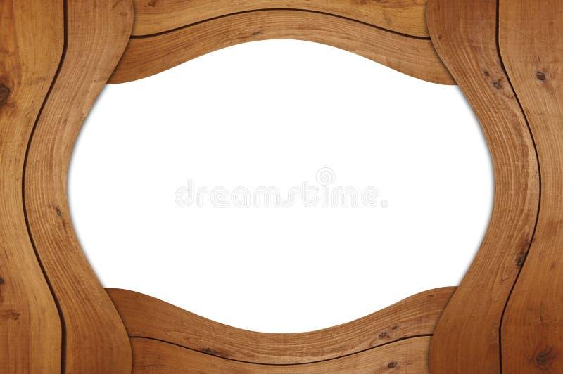 木空白的框架 免版税库存照片