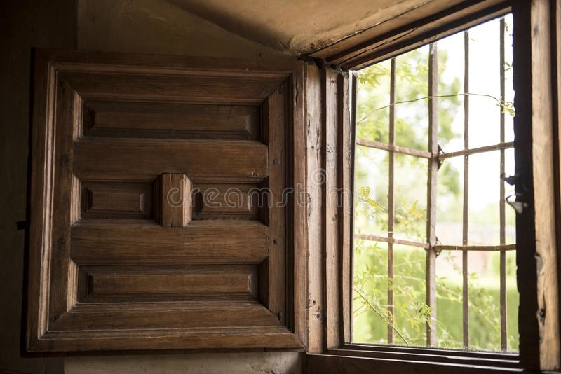 木窗口特写镜头 库存图片