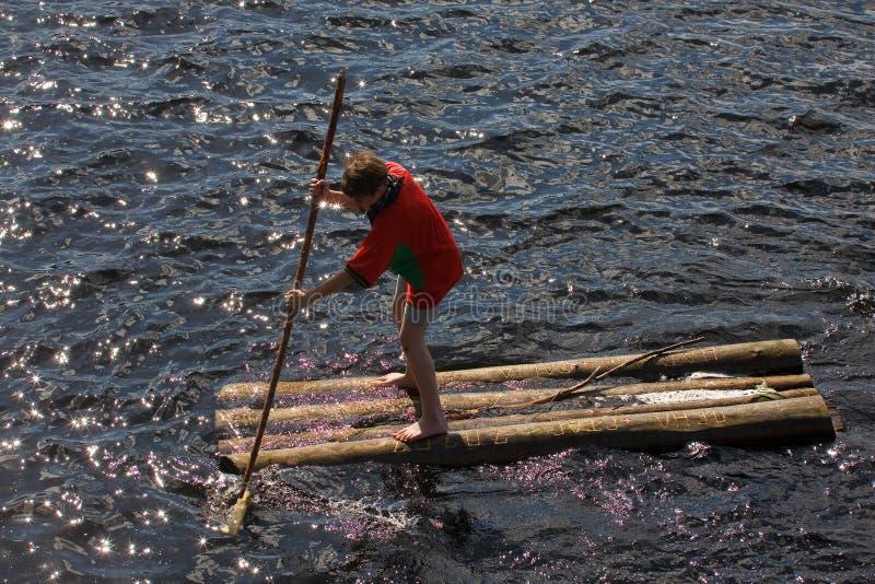 木筏 库存图片