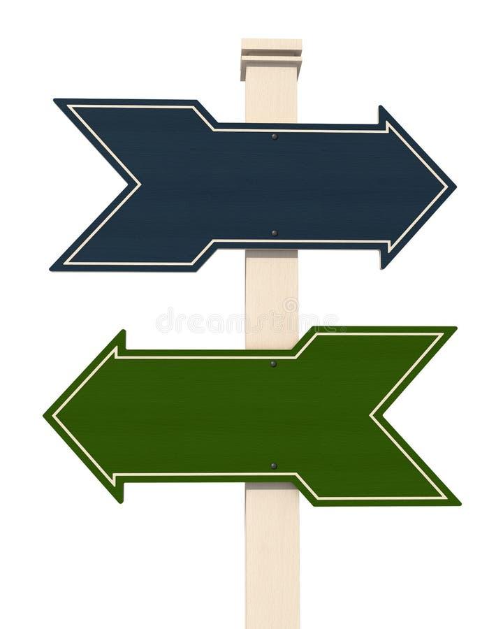 Download 木箭头的蓝绿色 库存例证. 插画 包括有 蓝色, 空白, 木头, 符号, 方向, 箭头, 油漆, 通信, 路标 - 22356736