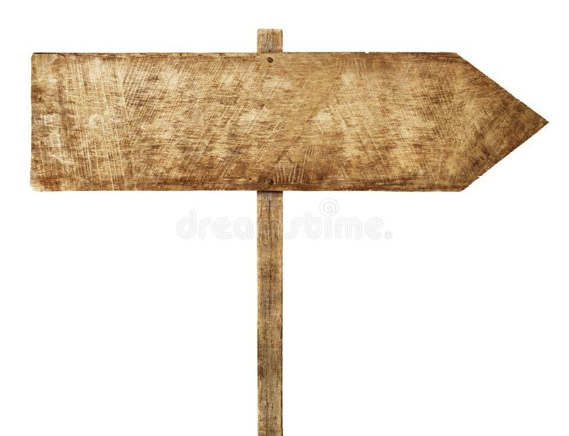 木箭头标志方向信息空白概念 免版税图库摄影