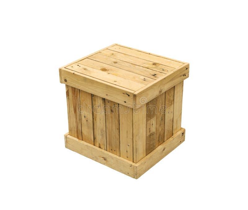 木箱出口板台被隔绝的运输立方体 库存照片