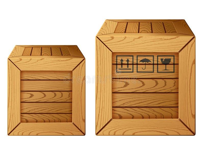 木箱图标 皇族释放例证