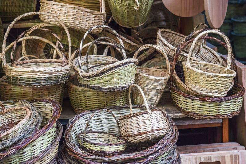 木篮子待售 免版税库存照片
