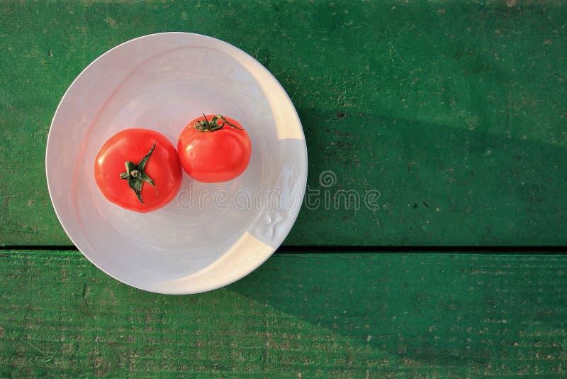 木红色表的蕃茄 图库摄影