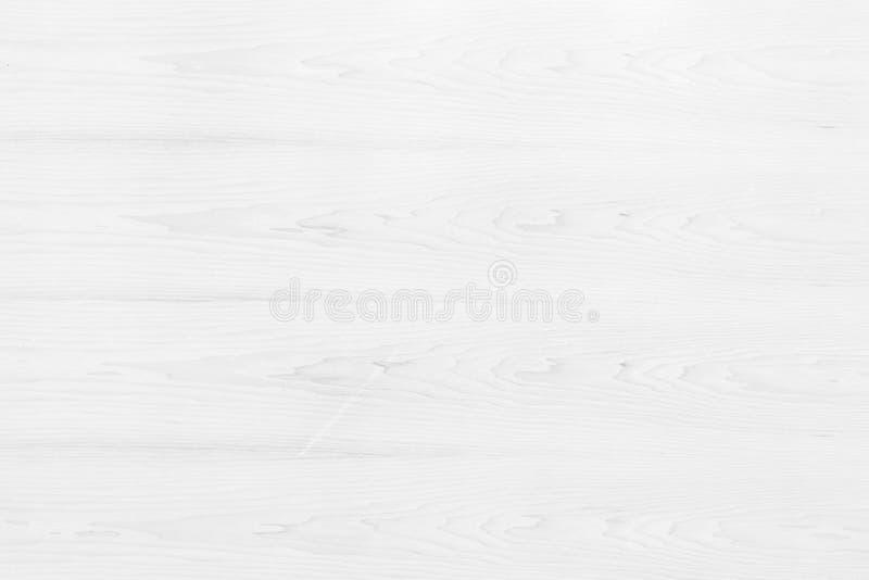 木纹理台式视图在白光自然颜色背景中 灰色干净的五谷木地板桦树盘区背景与 免版税库存图片
