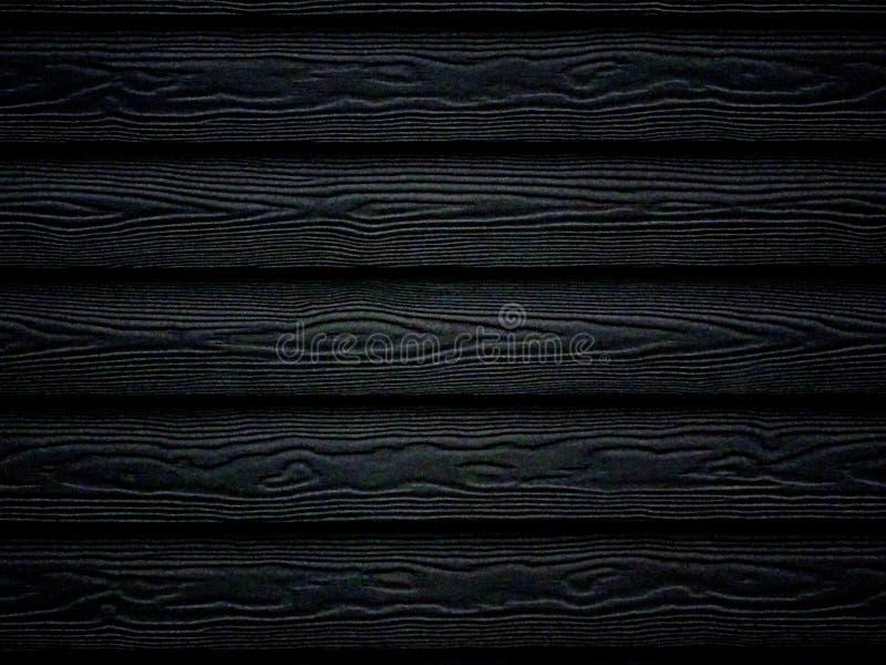 黑木纹理墙纸背景 免版税库存图片