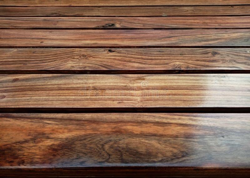 木纹理板条五谷背景、木书桌桌或者地板 免版税库存照片
