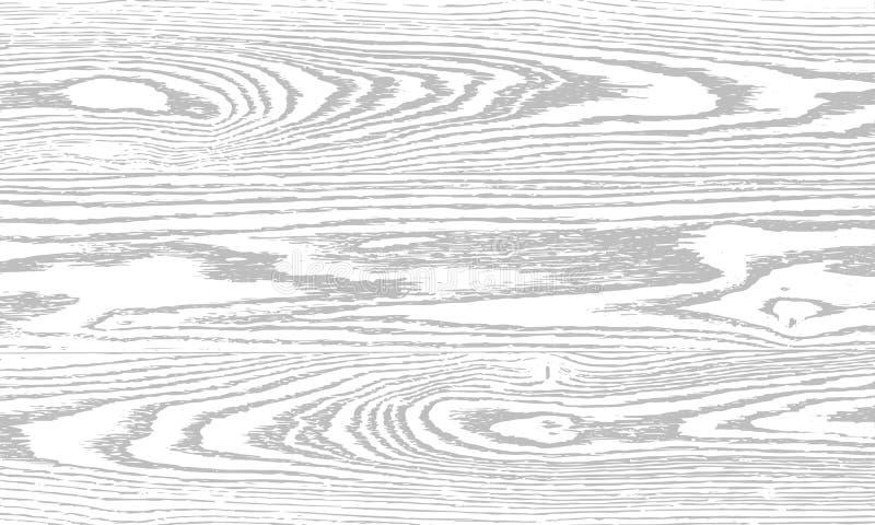木纹理灰色背景 干燥木 向量例证