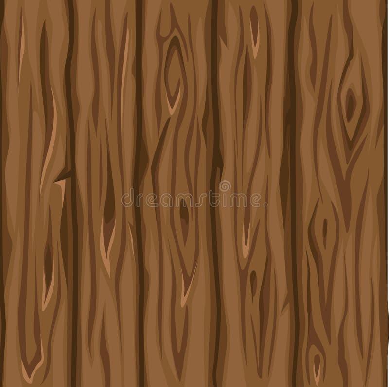 木纹理老棕色委员会 库存例证