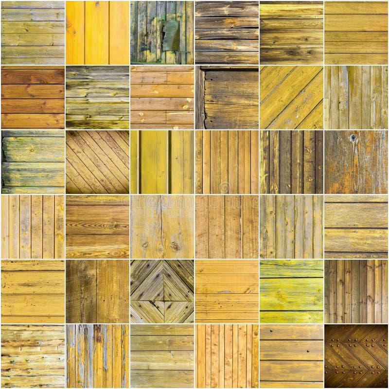 木纹理背景的大收藏 库存图片