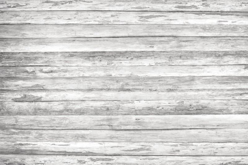 木纹理背景,白色木板条 难看的东西被洗涤的木墙壁样式 免版税图库摄影