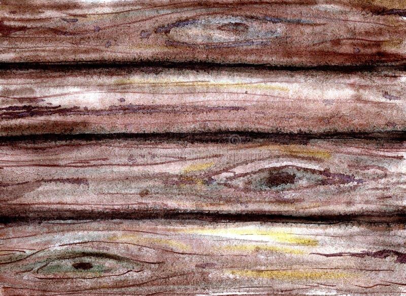 木纹理背景 皇族释放例证