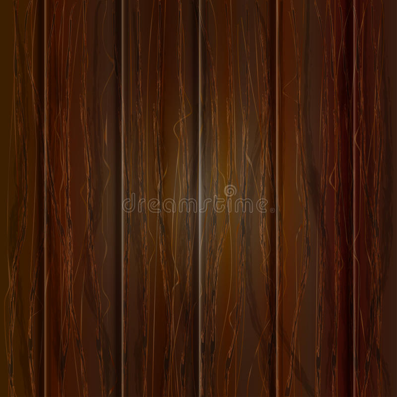 木纹理,传染媒介例证 背景黑暗自然木 库存例证