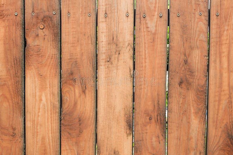 木纹理,木板,垂直条纹篱芭  免版税库存图片