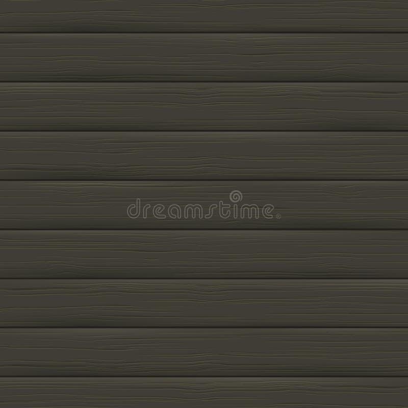 木纹理,黑暗的板条 木背景 向量例证
