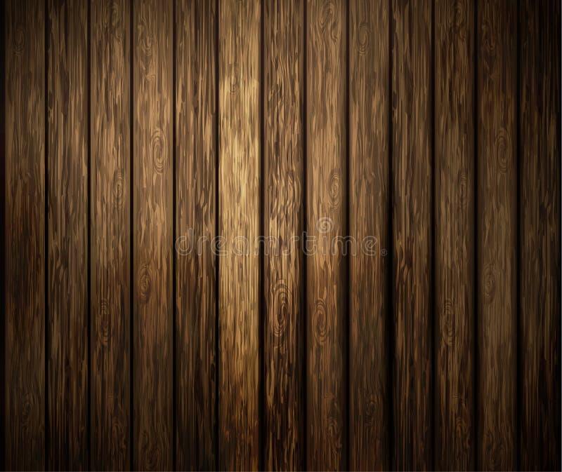 木纹理黑暗 库存例证