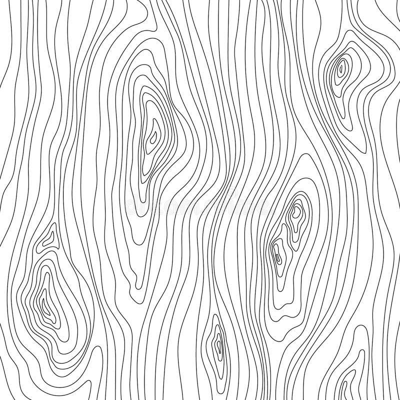 木纹理 木五谷样式 抽象纤维结构背景,传染媒介例证 向量例证