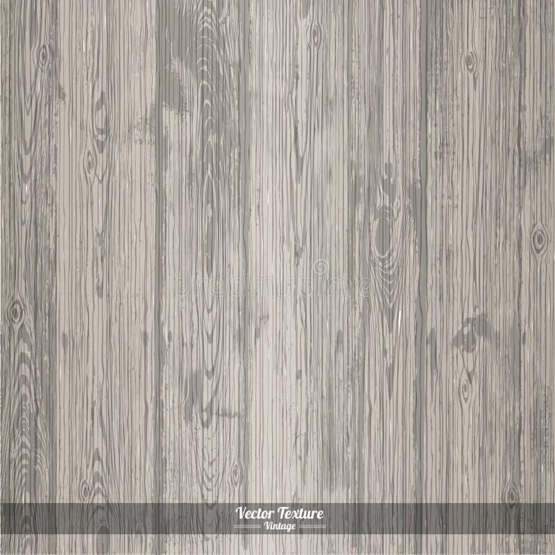 木纹理 灰色肮脏的木背景 向量例证
