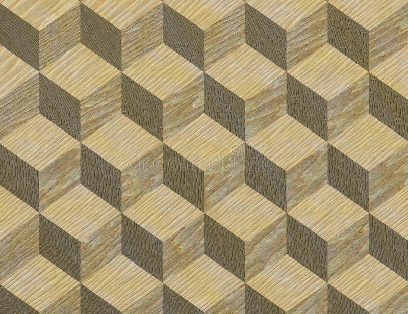 木细致的镶嵌细工模式的纹理 库存例证