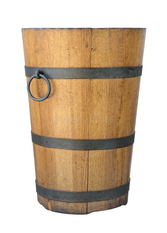木老的木盆 图库摄影